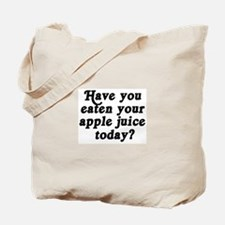 apple juice today Tote Bag
