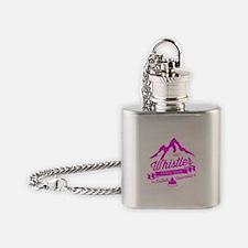 Whistler Mountain Vintage Flask Necklace