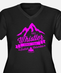 Whistler Mou Women's Plus Size V-Neck Dark T-Shirt