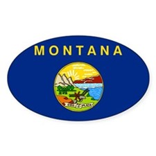 Montana Flag Decal