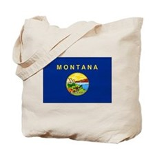 Montana Flag Tote Bag