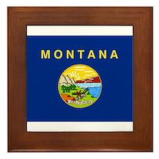 Montana Flag Framed Tile