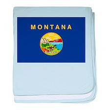 Montana Flag baby blanket