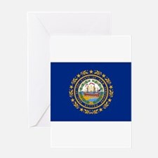 New Hampshire Flag Greeting Cards