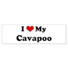 I Love Cavapoo Bumper Bumper Sticker