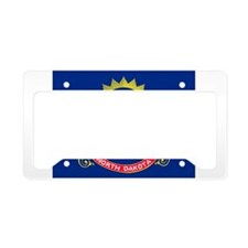 North Dakota Flag License Plate Holder