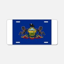 Pennsylvania Flag Aluminum License Plate