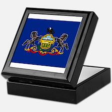 Pennsylvania Flag Keepsake Box