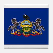 Pennsylvania Flag Tile Coaster