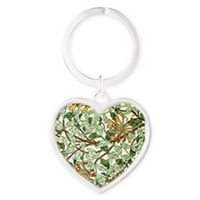 William Morris pattern - Honeysuckl Heart Keychain