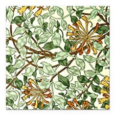 "William Morris pattern - Square Car Magnet 3"" x 3"""