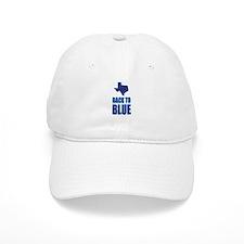 Texas Back to Blue Baseball Baseball Cap