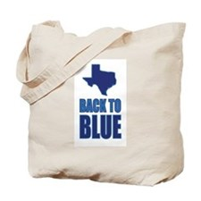 Texas Back to Blue Tote Bag