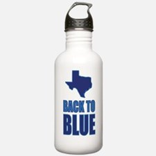 Texas Back to Blue Water Bottle
