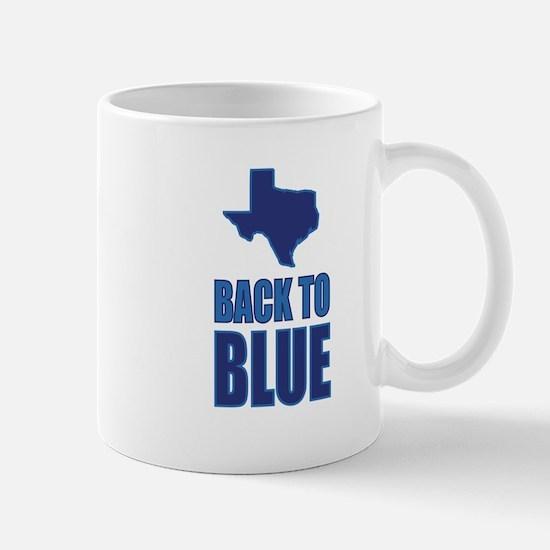 Texas Back to Blue Mugs