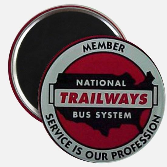 Trailways Bus System Magnet