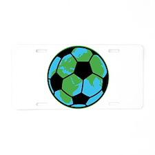 World Soccer Aluminum License Plate