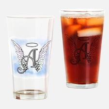 Letter A Monogram Drinking Glass