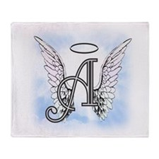 Letter A Monogram Throw Blanket