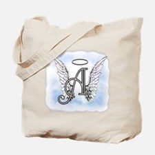 Letter A Monogram Tote Bag
