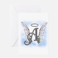 Letter A Monogram Greeting Cards