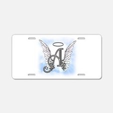 Letter A Monogram Aluminum License Plate