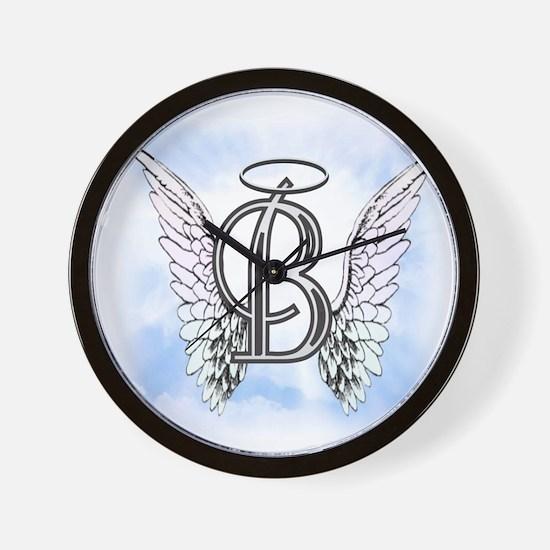 Letter B Monogram Wall Clock