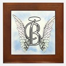 Letter B Monogram Framed Tile