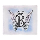 Angle wings letter b Fleece Blankets