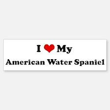 I Love American Water Spaniel Bumper Bumper Bumper Sticker