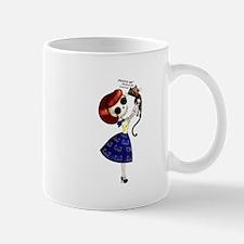 Skeleton Girl with Kitty Cat Mugs
