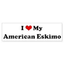 I Love American Eskimo Bumper Bumper Sticker