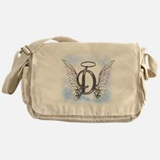 Letter D Monogram Messenger Bag