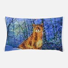 Snow Cougar Pillow Case