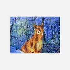 Snow Cougar 5'x7'Area Rug
