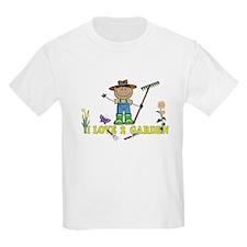 Dark Guy Farmer I LOVE 2 GARDEN T-Shirt