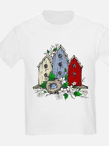 Three Birdhouses and a Nest copy T-Shirt
