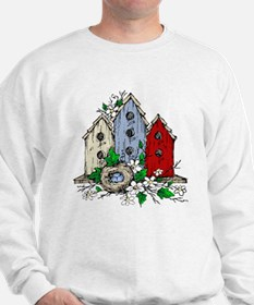 Three Birdhouses and a Nest copy Sweatshirt
