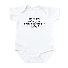 boston cream pie today Infant Bodysuit