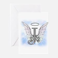Letter J Monogram Greeting Cards