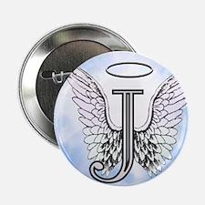 """Letter J Monogram 2.25"""" Button"""