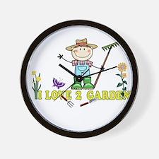 Light Guy Farmer brunette I LOVE 2 GARDEN Wall Clo