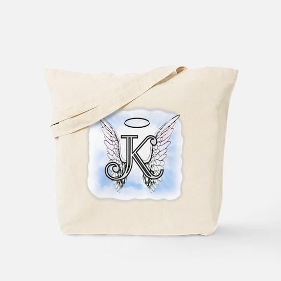 Letter K Monogram Tote Bag
