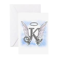 Letter K Monogram Greeting Cards