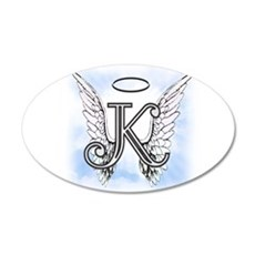 Letter K Monogram Wall Decal