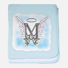 Letter M Monogram baby blanket