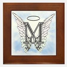 Letter M Monogram Framed Tile