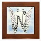 Monogrammed n Framed Tiles