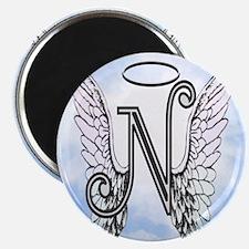 Letter N Monogram Magnets