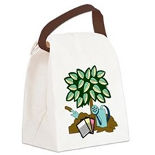 Tree Garden Seeds an Watering Can Canvas Lunch Bag